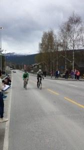 Først over målstreken: Oddvin Offigstad og Sindre Viberg